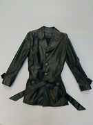 Chrome Hearts Black Leather Jacket Size M Sterling Silver Buttons