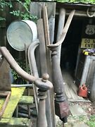 Antique Architectural Salvage Victorian Stair Railing 25ft Plus 2 Wood Post