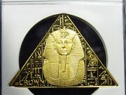 2008 Isle Of Man Gold 1 Crown King Tut Death Mask Ngc Pf69 Ultra Cameo 111