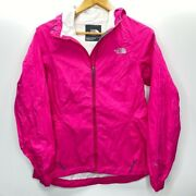 The Womens Hooded Jacket Pink Zip Up Hyvent High Neck Pockets S