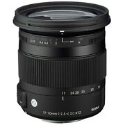 New Sigma 17-70mm F/2.8-4 Dc Macro Os Hsm Lens For Canon + Uv Cpl Fld Filter Kit