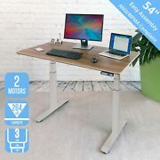 Airlift S3 Height Adjustable Electric Standing Desk Gray For Home Office Study