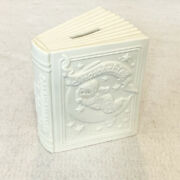 Department 56 Winter Tales Of The Snowbabies Piggy Bank Coin Bank Ceramic Book