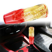 Vip Jdm 150mm Transparent Red/yellow Crystal Bubble Gear Shift Knob Mt Universal