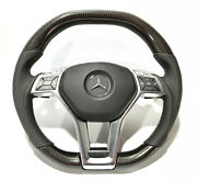 Mercedes W212 W204 W218 Amg Style Steering Wheel Carbon Leather Gray Edition