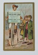Baseball Victorian Advertising Trade Card Bicycle Penny Farthing Tobacco 3076