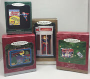 Lot Of 4 Hallmark Superman Phone Booth Super Friends Lunchboxes Action Comic