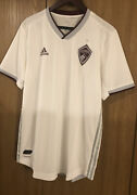 Adidas Mls Authentic Colorado Rapids Jersey Menand039s Size L Ge5932 White 2019 Nwt🔥