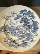 Enoch Wedgwood Antique Blue And White Transfer Print Countryside Plate