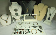 Primo Sterling Artisan Jewelry Lot 402g Vintage Mexico Navajo Southwest Signed