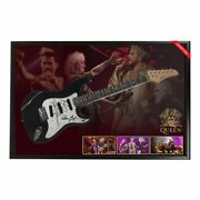 Queen Hand Signed Framed Full Size Stratocaster Guitar Adam Lambert May Taylor