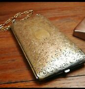Antique Marked German Silver Coin / Purse With Chain