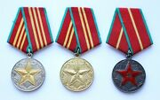 Soviet Russian Mvd Medal 10 15 20 Yrs Excellent Impeccable Service Silver Ussr