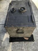 Vintage Mosler Safe Train Stage Coach Strong Box U.s. Late 1800andrsquos Early 1900andrsquos