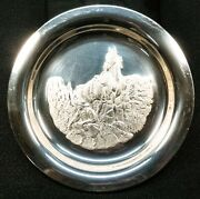 Horizons West Sterling Silver Collectorsand039 Plate 419.6g