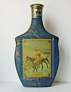 Vintage Jim Beam Bottle Decanter - On The Trail By Frederic Remington 1968