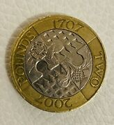 Very Rare Minting Error Andpound2 Coin Act Of Union Jigsaw