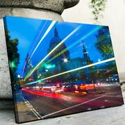 St Paul's Long Exposure Canvas Wall Art Printed On Wrapped Canvas, Wooden Frame