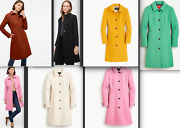 398 J.crew Classic Lady Day Coat In Italian Double-cloth Wool With Thinsulate