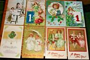 D911,nice Lot Of Vintage Pre 1930 New Years Postcards