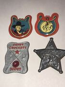 Burry's Hopalong Cassidy Badges And Dave's Crockett And Sheriff Badge All 4
