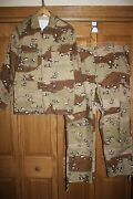 Vintage Iraq Military Jacket And Trousers Pants Set Chocolate Chip Camouflage X5