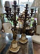 Ornate Antique French Candlestick Holder