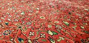 Exquisite Antique 1940s Wool Pile Natural Color Legendary Hereke Rug 6'9×9'9