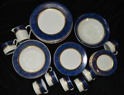 Vintage Retroneu Imperial Collection Blue Fine China