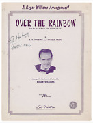 Signed Over The Rainbow Sheet Music Cover Sheet Arlen Harburg