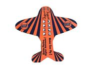 Vintage Gulf Gas Paper Airplane 1934 Makes Cars Fly Motor Oil