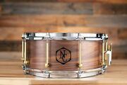 Noble And Cooley 14 X 6 Ss Classic Solid Shell Walnut Snare Drum Clear Oil Wood