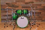Pearl Reference 4 Piece Drum Kit Emerald Fade Black Fittings