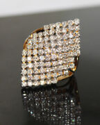 Christmas 1.52ct Natural Round Diamond 14k Solid Yellow Gold Ring Size 7
