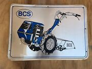 """28"""" X 20"""" Vintage Bcs Tiller Sign Graphic Embossed Metallic Paint Really Cool"""