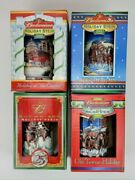 Lot Of 4 Budweiser Holiday Christmas Stein Mugs Clydesdales 2001 2002 2003 2004