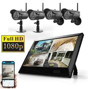 1080p Wireless Home Security Camera System With 10 Inch Touchscreen Monitor Hd