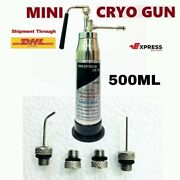 Brand New Mini Cryo Empty Can For Dermatology With Different Nozzles/probes