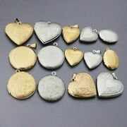 20pcs Locket Pendants Stainless Steel Photo Frame Charms Diy Jewelry Accessories