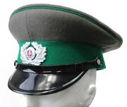 Ddr East German Army Border Guards Peaked Cap And Badge
