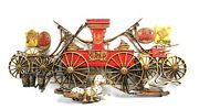 Vintage Large Burwood Antique Fire Engine Truck And Dalmatian Wall Hanging Plaque