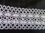 Wholesale 50 Yard White Scalloped Embroidered Crochet Clunny Trim 1 3/4 W