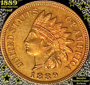 1889 Indian Head Cent - Proof @ Eye Appeal @ Beautiful Golden-copper Surfaces