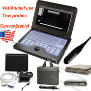 Us Portable Ultrasound Scanner Veterinary Pregnancy With Rectal,convex Probe,fda