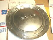 Vintage 1950and039s Ford Script Man Cave Chrome Hubcap Wheel Cover 15 Nice