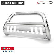 Fits 2006-2008 Dodge Ram 1500 3 Round S.s. Bull Bar Grill Guard Front Bumper