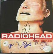 Radiohead Full Band Signed Mint Autograph The Bends Album Vinyl Thom Yorke +5