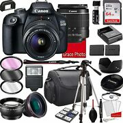 Canon Eos 2000d Rebel T7 Dslr Camera With 18-55mm F/3.5-5.6 Zoom Lens,...