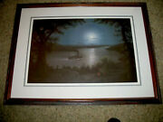 Jesse Barnes Print Night On The Mississippi Framed Signed And Numbered Certificate
