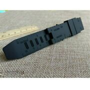 Strap Watch Band Rubber Black Waterproof For Luminox Recon/colormark 23mm